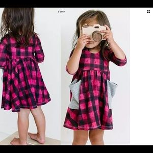 NWT Checkered flannel dress with pockets